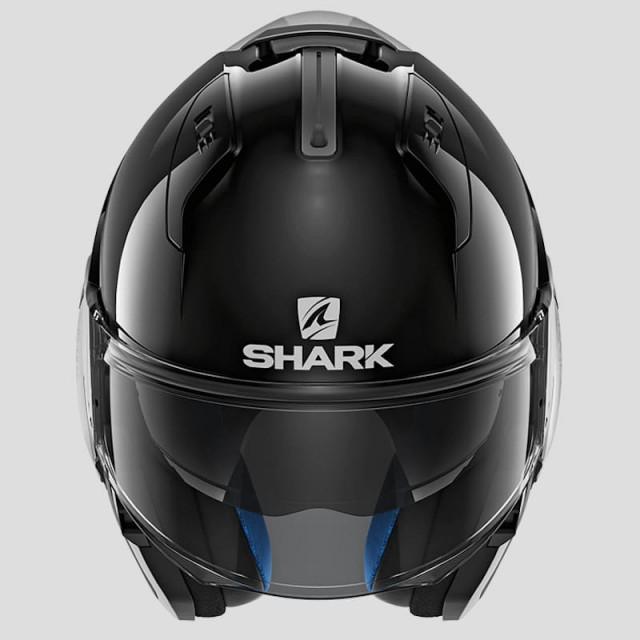 CASCO SHARK EVO-ONE 2 BLANK BLACK - JET