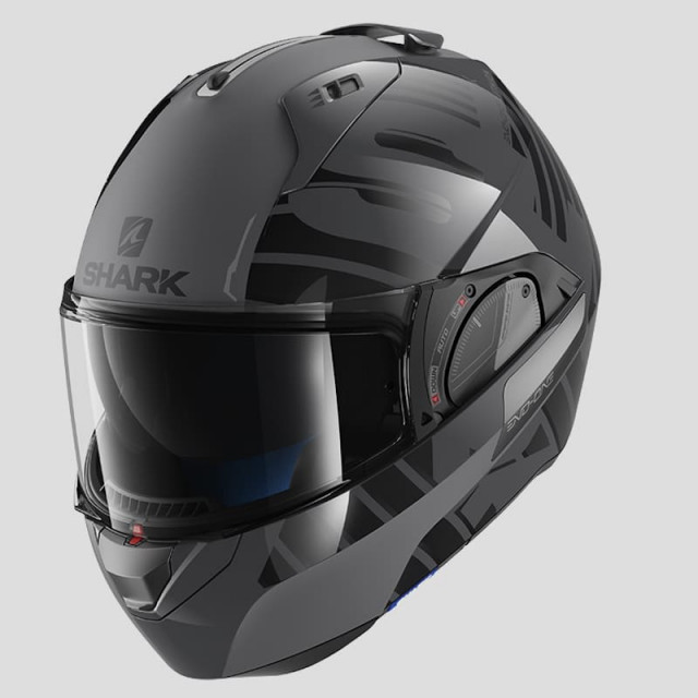 SHARK EVO-ONE 2 LITHION DUAL HELMET ANTHRACITE  BLACK ANTHRACITE - FULL FACE