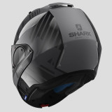 SHARK EVO-ONE 2 LITHION DUAL HELMET ANTHRACITE BLACK ANTHRACITE - FULL FACE BACK