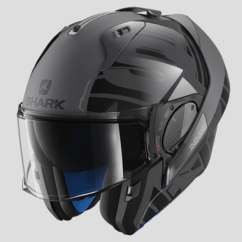 SHARK EVO-ONE 2 LITHION DUAL HELMET - ANTHRACITE BLACK ANTHRACITE