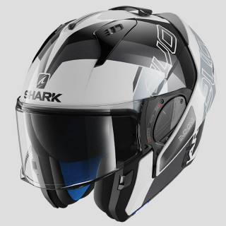 SHARK EVO-ONE 2 SLASHER HELMET - WHITE BLACK SILVER