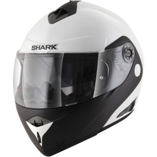 CASCO SHARK OPENLINE D-TONE WHITE BLACK WHITE - FULL FACE
