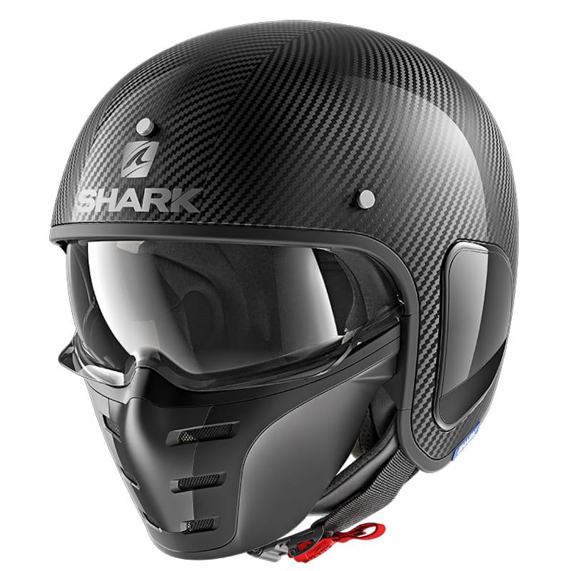 SHARK S-DRAK CARBON SKIN HELMET - CARBON SILVER BLACK
