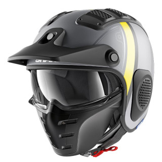 SHARK X-DRAK TERRENCE MAT HELMET - MAT ANTHRACITE YELLOW