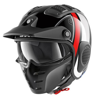 SHARK X-DRAK TERRENCE HELMET - BLACK WHITE RED