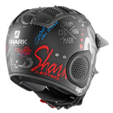 SHARK X-DRAK FREEESTYLE CUP MAT HELMET MAT BLACK ANTHRACITE BLUE - BACK 2