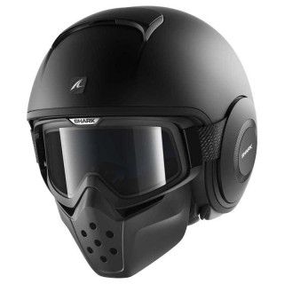 CASCO SHARK DRAK BLANK MAT - MAT BLACK