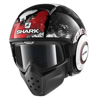 SHARK DRAK EVOK HELMET - BLACK RED ANTHRACITE