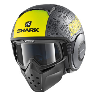 SHARK DRAK TRIBUTE RM MAT HELMET  - MAT ANTHRACITE YELLOW BLACK