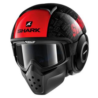 SHARK DRAK TRIBUTE RM HELMET - BLACK RED ANTHRACITE