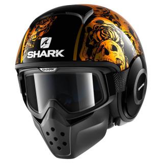 CASCO SHARK DRAK SANCTUS - BLACK ORANGE