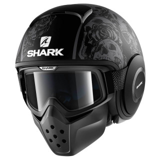 CASCO SHARK DRAK SANCTUS MAT - MAT BLACK ANTHRACITE