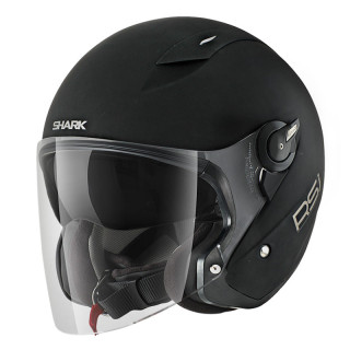 CASCO SHARK RSJ BLANK MAT - MAT BLACK