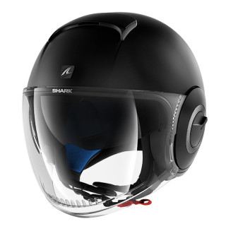 CASCO SHARK NANO BLANK MAT - MAT BLACK