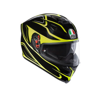 CASCO AGV K-5 S MAGNITUDE - BLACK YELLOW FLUO