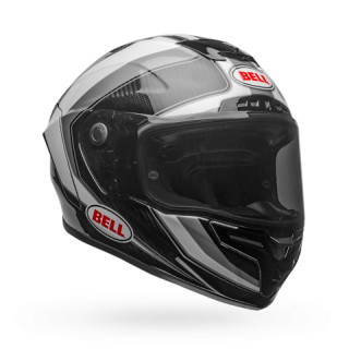 BELL RACE STAR FLEX HELMET - SECTOR GLOSS WHITE TITANIUM