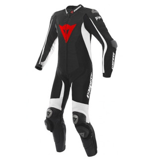 DAINESE D-AIR RACING MISANO ESTIVA LEATHER SUIT - BLACK WHITE