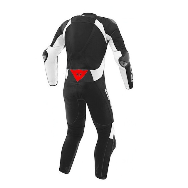 DAINESE D-AIR RACING MISANO ESTIVA LEATHER SUIT BLACK WHITE - BACK