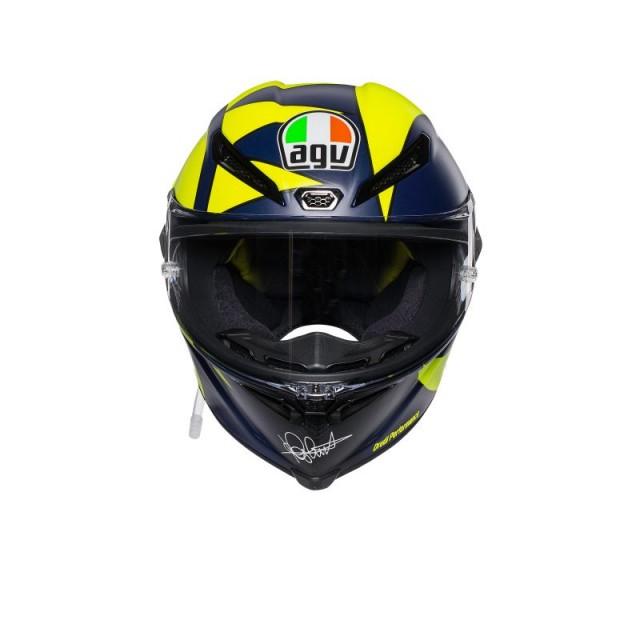 CASCO AGV PISTA GP R REPLICA SOLELUNA 2018 - FRONT