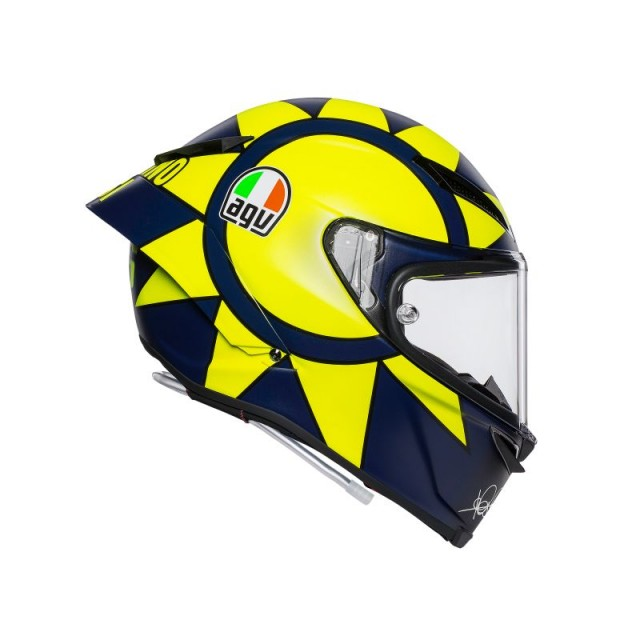 CASCO AGV PISTA GP R REPLICA SOLELUNA 2018 - SIDE 3