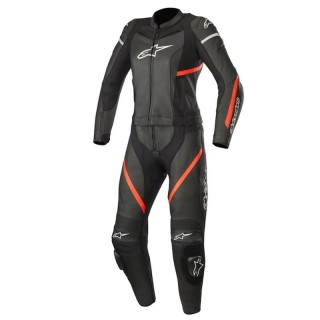 TUTA ALPINESTARS STELLA KIRA 2 PC LEATHER SUIT - Black-Red Fluo