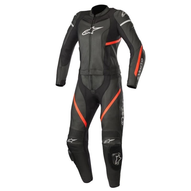 ALPINESTARS STELLA KIRA 2 PC LEATHER SUIT - Black-Red FLuo