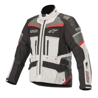 GIACCA ALPINESTARS ANDES PRO TECH-AIR DRYSTAR JACKET - Light Gray-Black-Dark Grey-Red