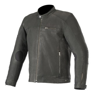 GIACCA ALPINESTARS WARHORSE LEATHER JACKET - Black