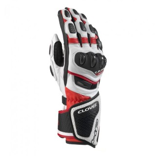 CLOVER RS-8 GLOVES - WHITE RED