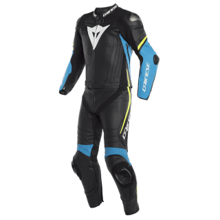 TUTA DAINESE LAGUNA SECA 4 2 PCS SUIT - Black-Fire Blue-Fluo Yellow