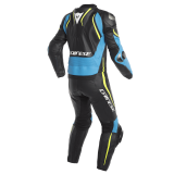 TUTA DAINESE LAGUNA SECA 4 2 PCS SUIT - Black-Fire Blue-Fluo Yellow - RETRO
