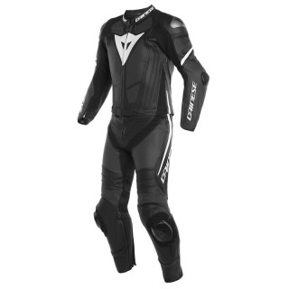 TUTA DAINESE LAGUNA SECA 4 2PCS PERFORATED SUIT - Black-White