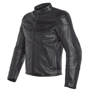 GIACCA DAINESE BARDO PERFORATED LEATHER JACKET