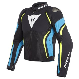 DAINESE ESTREMA AIR TEX JACKET - Black-Fire Blue-Fluo Yellow