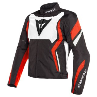 DAINESE EDGE TEX JACKET- Black-White-Fluo Red