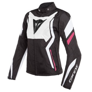 DAINESE EDGE TEX LADY JACKET - Black Matt-White-Fucsia