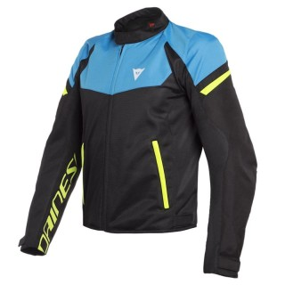 DAINESE BORA AIR TEX JACKET - Black-Fire Blue-Fluo Yellow