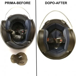 EXAMPLE OF LINER RECONSTRUCTION ON ARAI OPEN FACE HELMET
