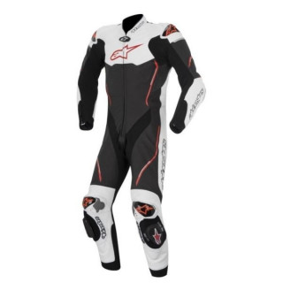 ALPINESTARS ATEM LEATHER SUIT - BLACK WHITE RED