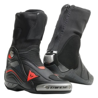DAINESE AXIAL D1 AIR BOOTS - Black-Fluo Red