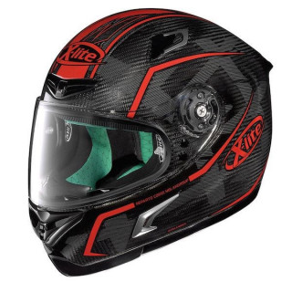 X-LITE X-802RR ULTRA CARBON MARQUETRY HELMET - RED 18