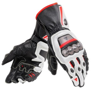 DAINESE FULL METAL 6 GLOVES - Black-White-Lava Red