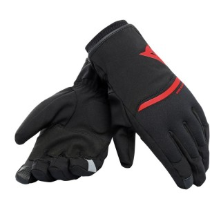 DAINESE PLAZA 2 UNISEX D-DRY GLOVES - BLACK-RED