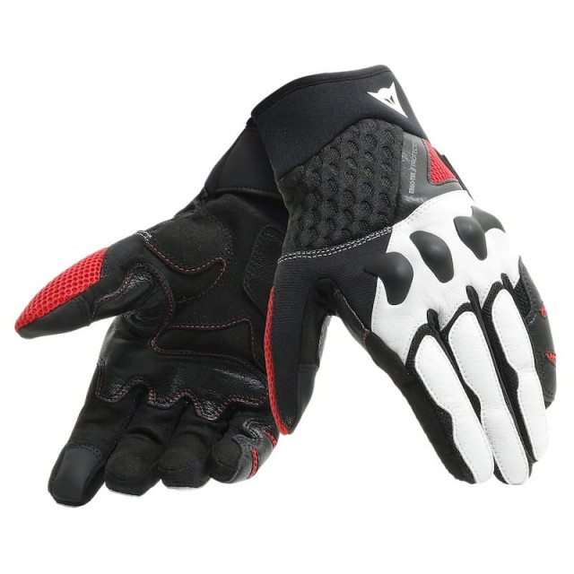 DAINESE X-MOTO GLOVES - BLACK-WHITE-LAVA RED