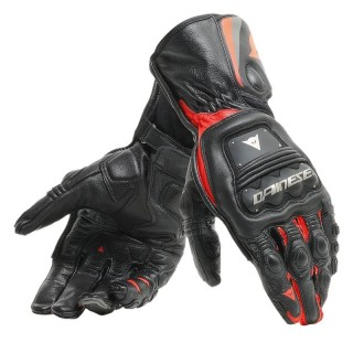 DAINESE STEEL-PRO GLOVES - BLACK-FLUO RED