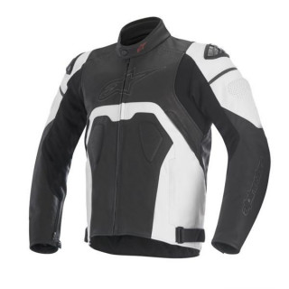 ALPINESTARS CORE LEATHER JACKET - BLACK WHITE
