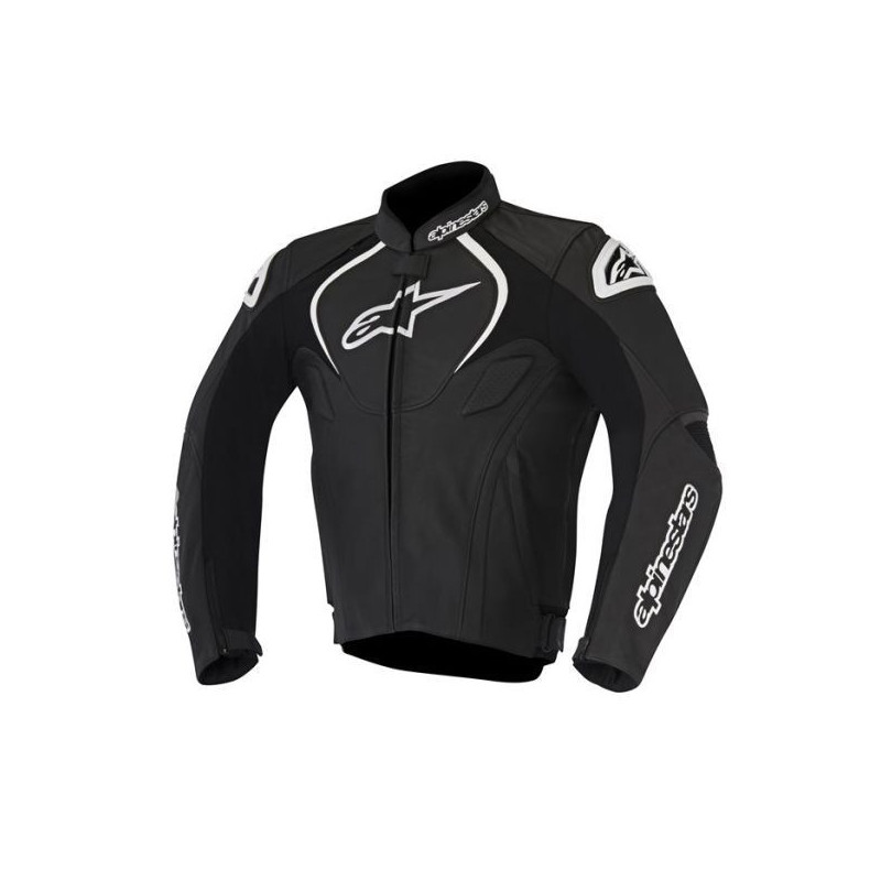 GIACCA ALPINESTARS JAWS LEATHER JACKET - NERO