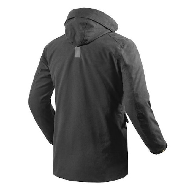 REV'IT JACKET WILLIAMSBURG BLACK - BACK