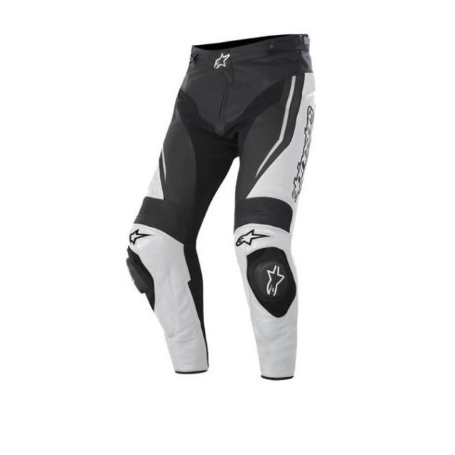 ALPINESTARS TRACK LEATHER PANTS - BLACK WHITE