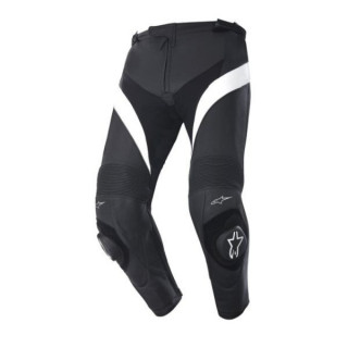 PANTALONI ALPINESTARS MISSILE LEATHER PANTS - NERO BIANCO